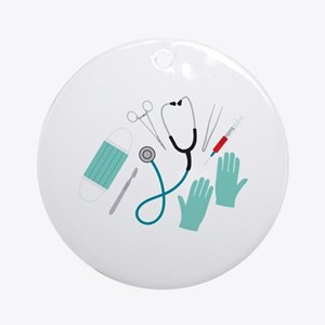 Surgeon Equipment Round Ornament