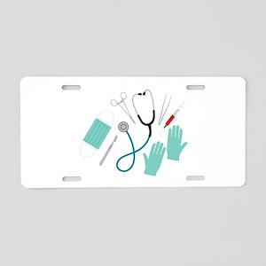 Surgeon Equipment Aluminum License Plate