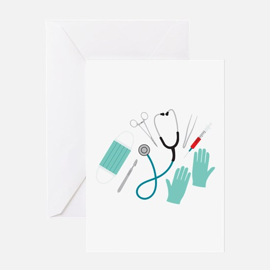 Surgeon Equipment Greeting Cards