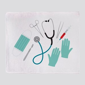 Surgeon Equipment Throw Blanket