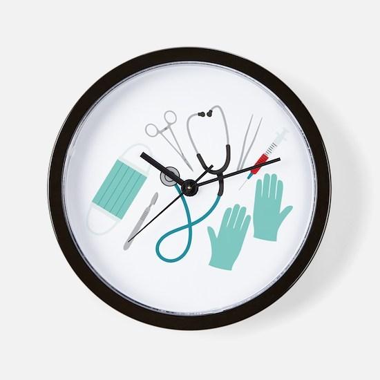 Surgeon Equipment Wall Clock