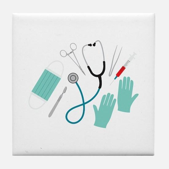 Surgeon Equipment Tile Coaster