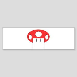 Mario Bros Mushroom big Bumper Sticker