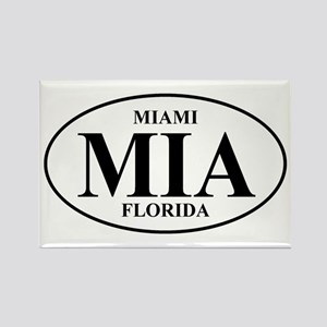 MIA Miami Rectangle Magnet