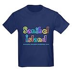 Sanibel Type - Kids Dark T-Shirt