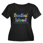 Sanibel Type - Women's Plus Size Scoop Neck Dark