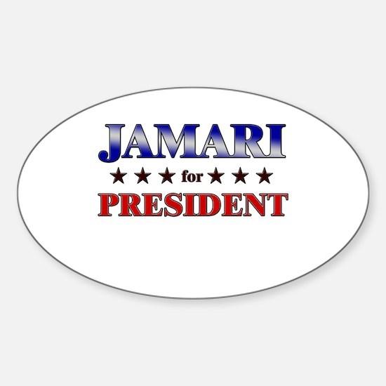 JAMARI for president Oval Decal