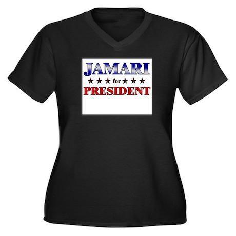 JAMARI for president Women's Plus Size V-Neck Dark