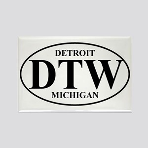 DTW Detroit Rectangle Magnet