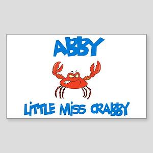 Abby - Little Miss Crabby Rectangle Sticker