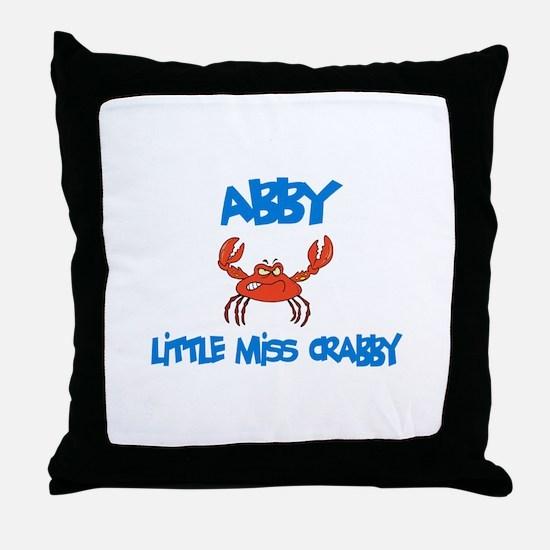 Abby - Little Miss Crabby Throw Pillow