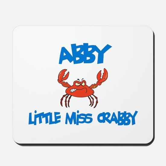 Abby - Little Miss Crabby Mousepad