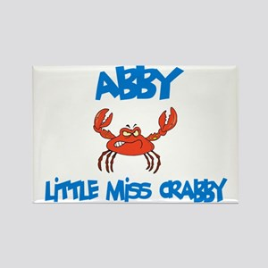 Abby - Little Miss Crabby Rectangle Magnet (10 pac