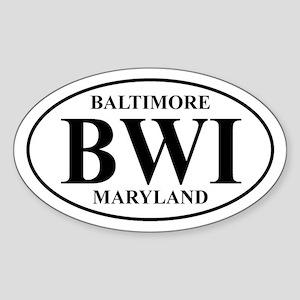 BWI Baltimore Oval Sticker