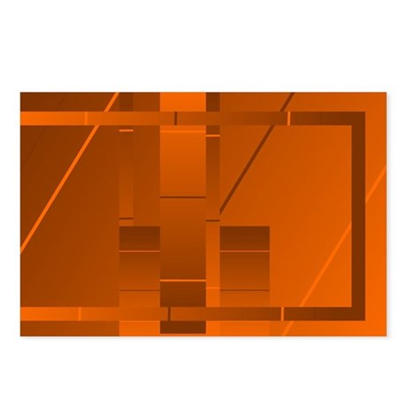Orange Rectangle Art Postcards (Package of 8)