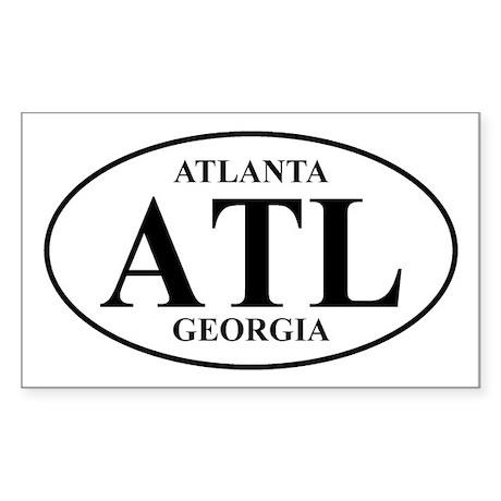ATL Atlanta Rectangle Sticker