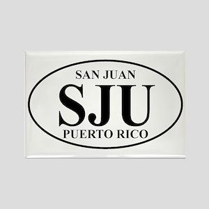SJU San Juan Rectangle Magnet