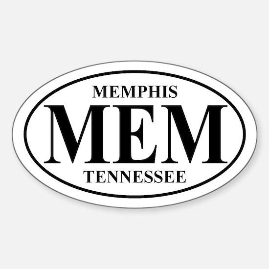 MEM Memphis Oval Decal