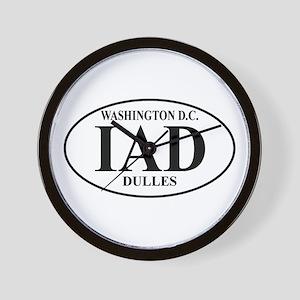 IAD Washington Dulles Wall Clock