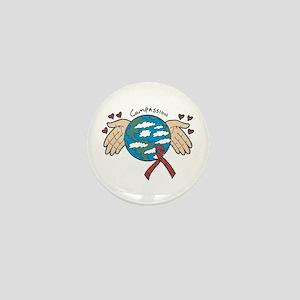 AIDS Awareness & Compassion Mini Button