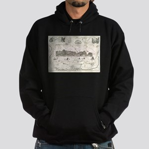 Vintage Map of The White Mountains ( Hoodie (dark)