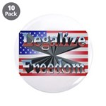"""Legalize Freedom 3.5"""" Button (10 pack)"""