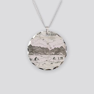 Vintage Map of The White Mou Necklace Circle Charm