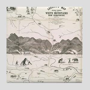 Vintage Map of The White Mountains (1 Tile Coaster