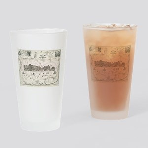 Vintage Map of The White Mountains Drinking Glass