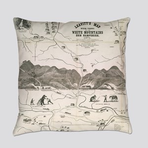 Vintage Map of The White Mountains Everyday Pillow