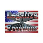 Legalize Freedom Rectangle Magnet (10 pack)