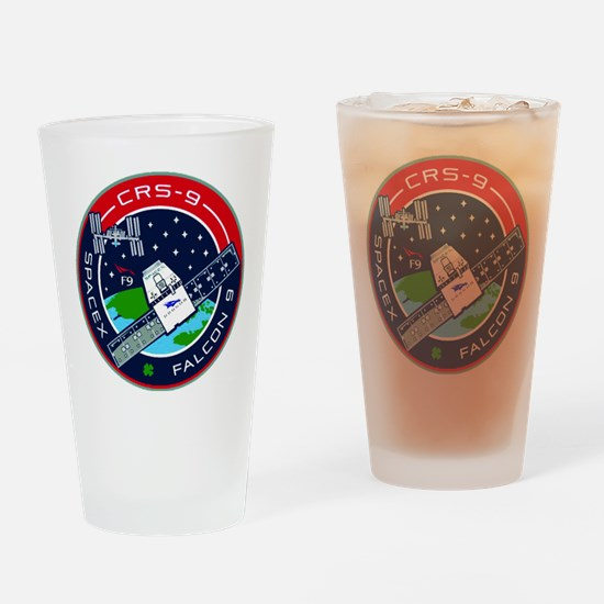 CRS-9 Flight Logo Drinking Glass