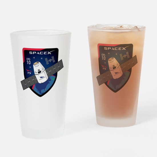 CRS-10 Flight Logo Drinking Glass