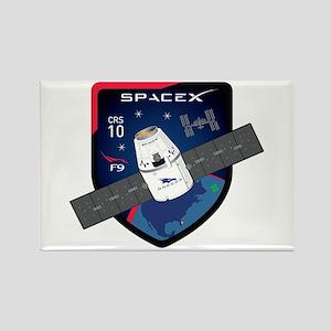 CRS-10 Flight Logo Rectangle Magnet