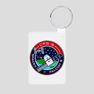 CRS-9 Flight Logo Aluminum Photo Keychain