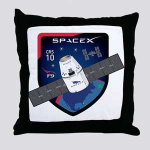 CRS-10 Flight Logo Throw Pillow