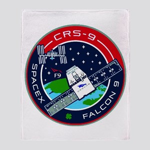 CRS-9 Flight Logo Throw Blanket