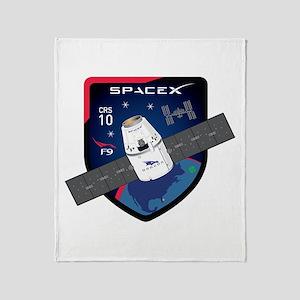 CRS-10 Flight Logo Throw Blanket