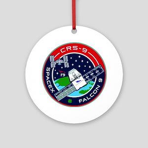 CRS-9 Flight Logo Round Ornament