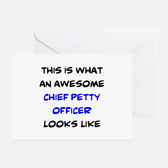 awesome chief petty officer Greeting Card
