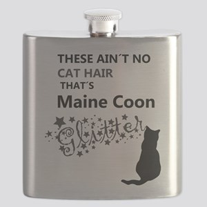 Maine Coon Glitter Flask