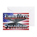 Legalize Freedom Greeting Cards (Pk of 20)