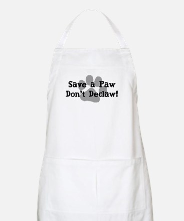 Save a Paw, Don't Declaw BBQ Apron