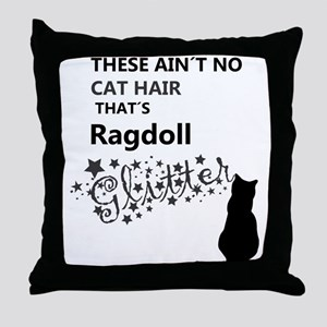 Ragdoll Glitter Throw Pillow