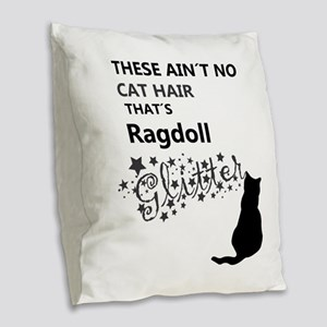 Ragdoll Glitter Burlap Throw Pillow