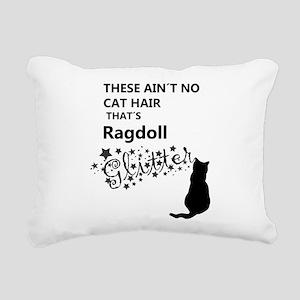 Ragdoll Glitter Rectangular Canvas Pillow