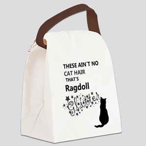 Ragdoll Glitter Canvas Lunch Bag