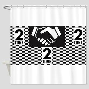2 Tone Love Shower Curtain