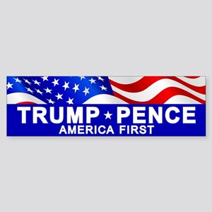 Trump Pence America Bumper Sticker