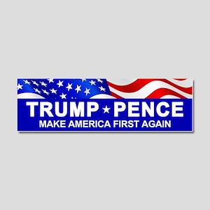 Trump Pence America First Car Magnet 10 X 3